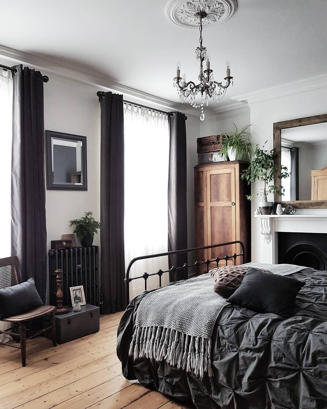Chambre gris et Blanc cassé | BLACK-WHITE-GREY-TAN | Pinterest ...