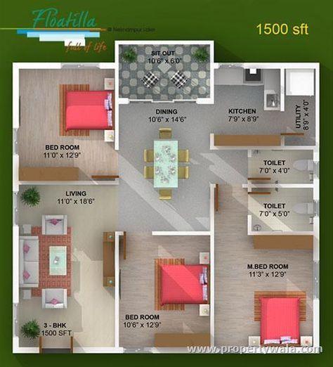 House Designs India 1500 Sq Ft Homeminimalis Com House Plans 30x40 House Plans Budget House Plans