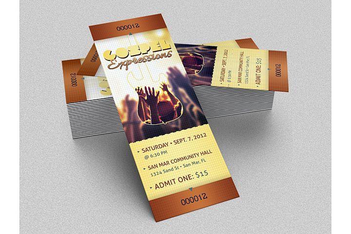 Gospel Concert Ticket Template from DesignBundlesnet Design and - concert tickets design