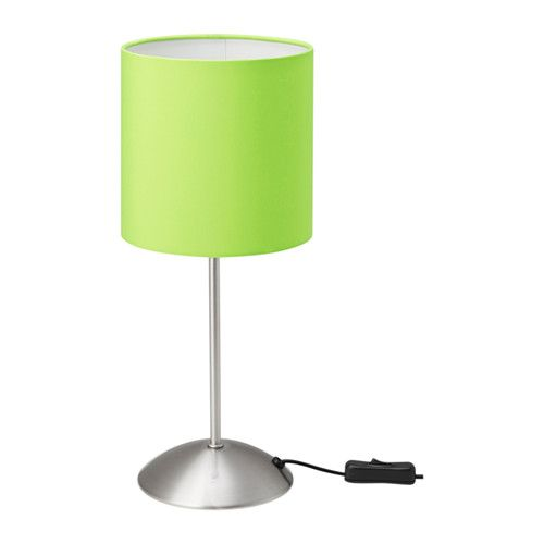 Ikea Tiarp Table Lamp Green The Textile Shade Provides A Diffused