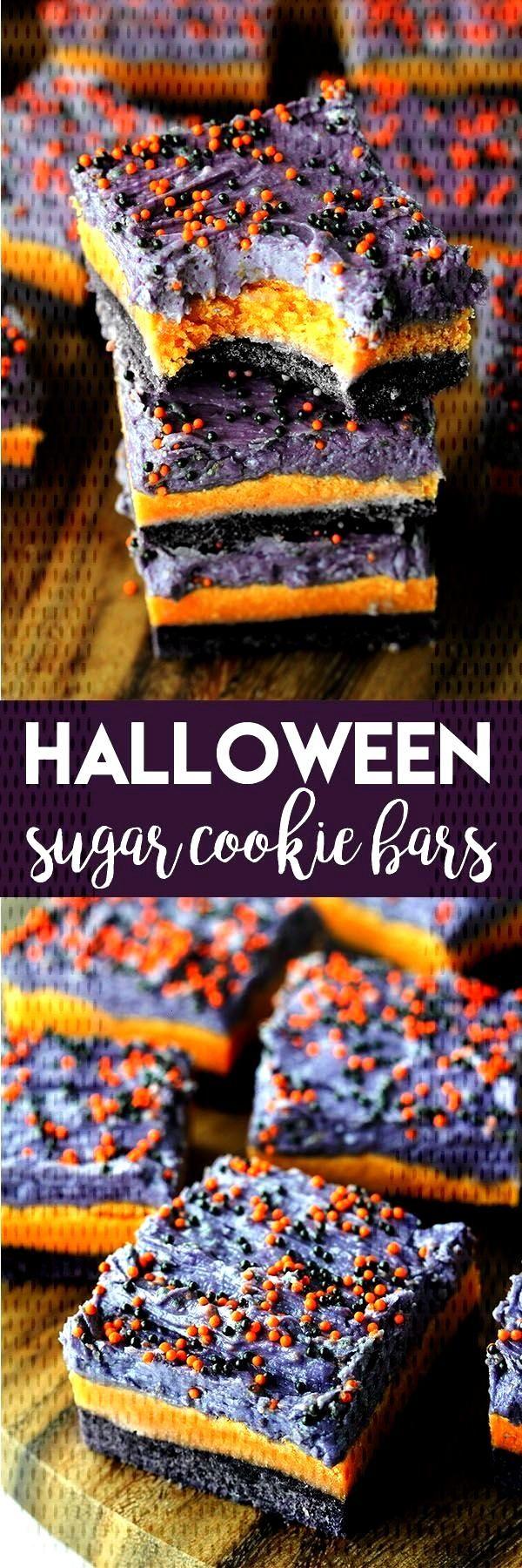 Halloween Sugar Cookie Bars - Sarah High Heels and Grills - Halloween Sugar Cookie Bars    If
