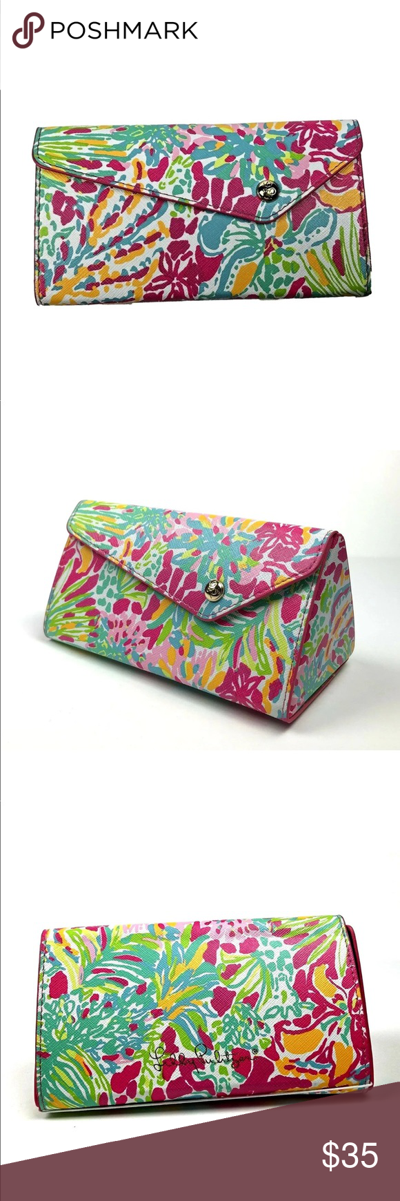514a3fa8a3 LILLY PULITZER SUNGLASS CASE SPOT YA Collapsible LILLY PULITZER SUNGLASS  CASE SPOT YA Collapsible Compact .