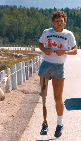 Terry Fox . . . A Canadian Hero.  My father who is an amputee, and still worked hard to provide for his family no matter how hard it was for him.