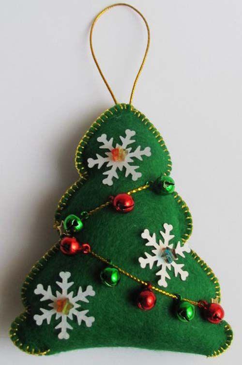 Moldes para hacer arbolitos de navidad en fieltro nadal - Arbol de navidad de fieltro ...