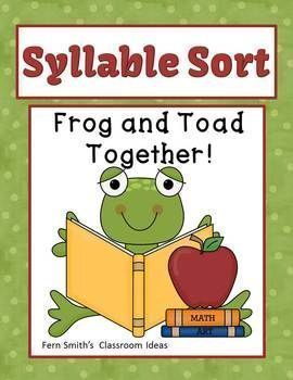 Syllable Sort Frog and Toad Together Center Game for Common Core! #TPT $Paid