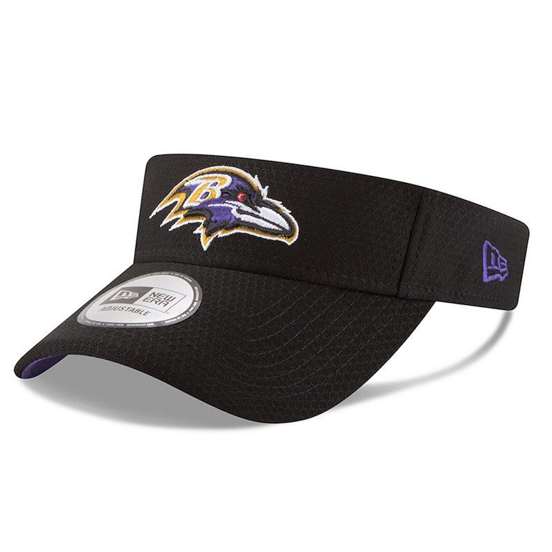 Baltimore Ravens New Era 2018 Training Camp Primary Visor – Black ... ed7337da5
