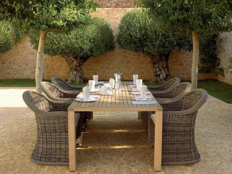 Salon De Jardin En Teck De L 39 Elegance Et Du Luxe En Exterieur Salle A Manger Jardin Meubles De Jardin En Teck Petit Patio