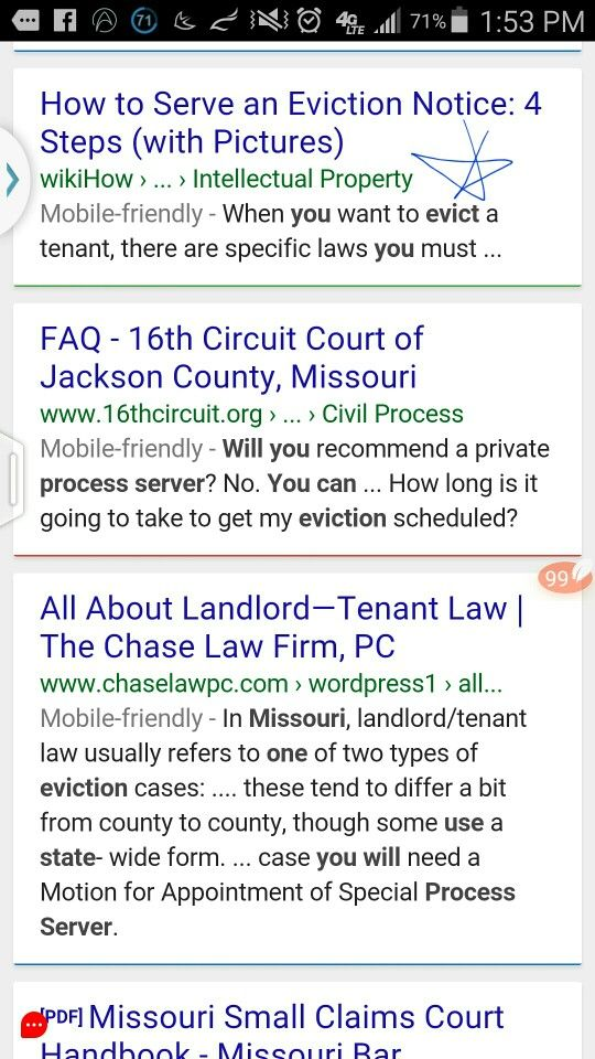 STUDY 06 15 THE ONE MARKED W  A ☆ EVICTION PROCESS Pinterest - eviction letter to tenant