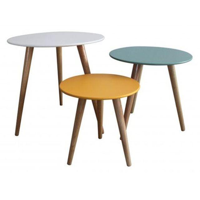 set 3 tables gigognes stockholm inwood la redoute mobile