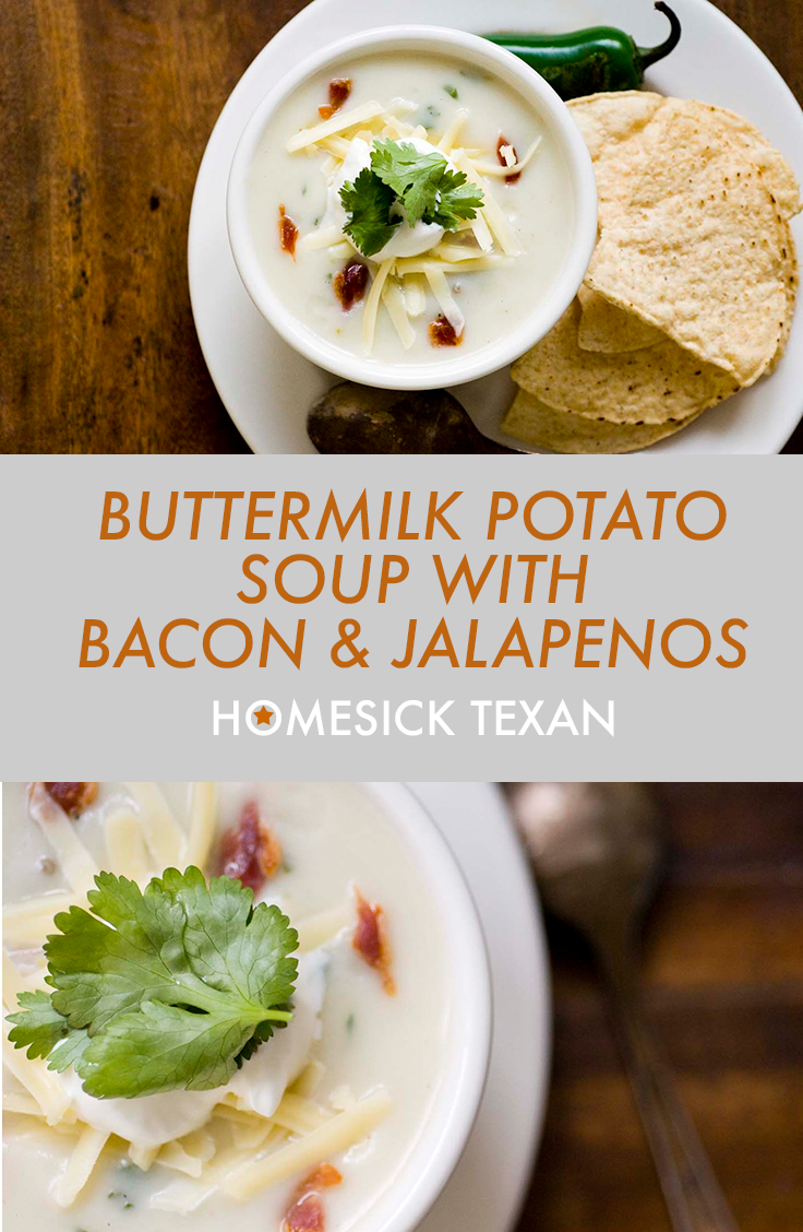 Buttermilk Potato Soup With Bacon And Jalapenos Potato Bacon Soup Healthy Recipes Easy Snacks Healthy Snacks Recipes