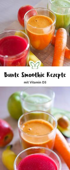 Smoothies sind soo lecker oder? Vor allem selbstgemachte - ich habe hier 3 verschiedene Rezepte für bunte Smoothies. Avocado-Gurken Smoothie, Karotte Bananen Smoothie und rote Beete Smoothie - yamm!