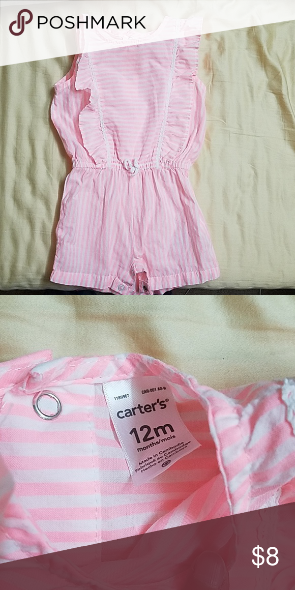 Baby Girl Romper Romper From Carters Size 12 Months Bundle Baby