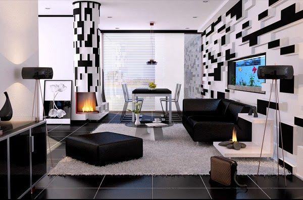 Awesome Salon Noir Et Blanc Deco Photos - Awesome Interior Home ...