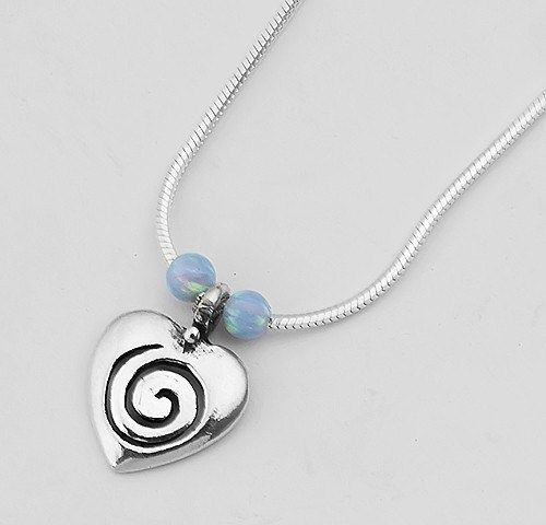 Fine Jewelry White Opal Sterling Silver Beaded Necklace UofD5wUc