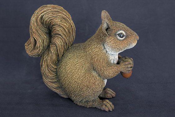 Realistically carved squirrel by Leah Goddard, a ...