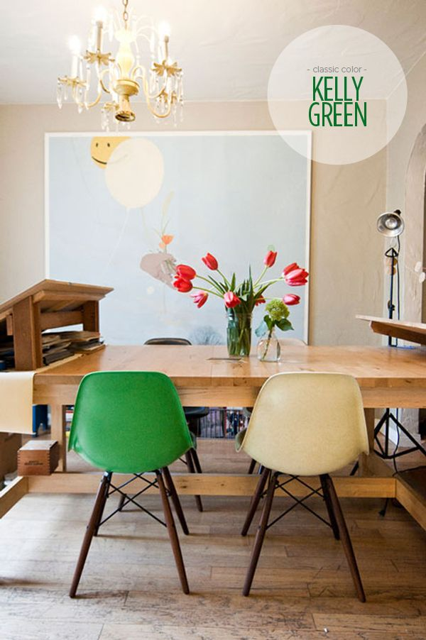 Superbe A Classic Kelly Green (chair)   A Great Color Accent To The Dining Area