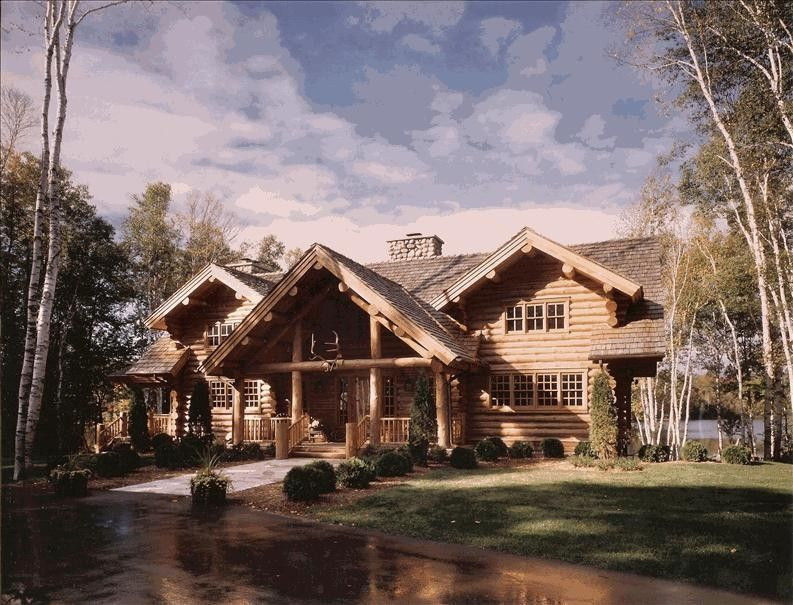 Charlevoix Cabin Rental: Luxurious Log Home On Private Lake