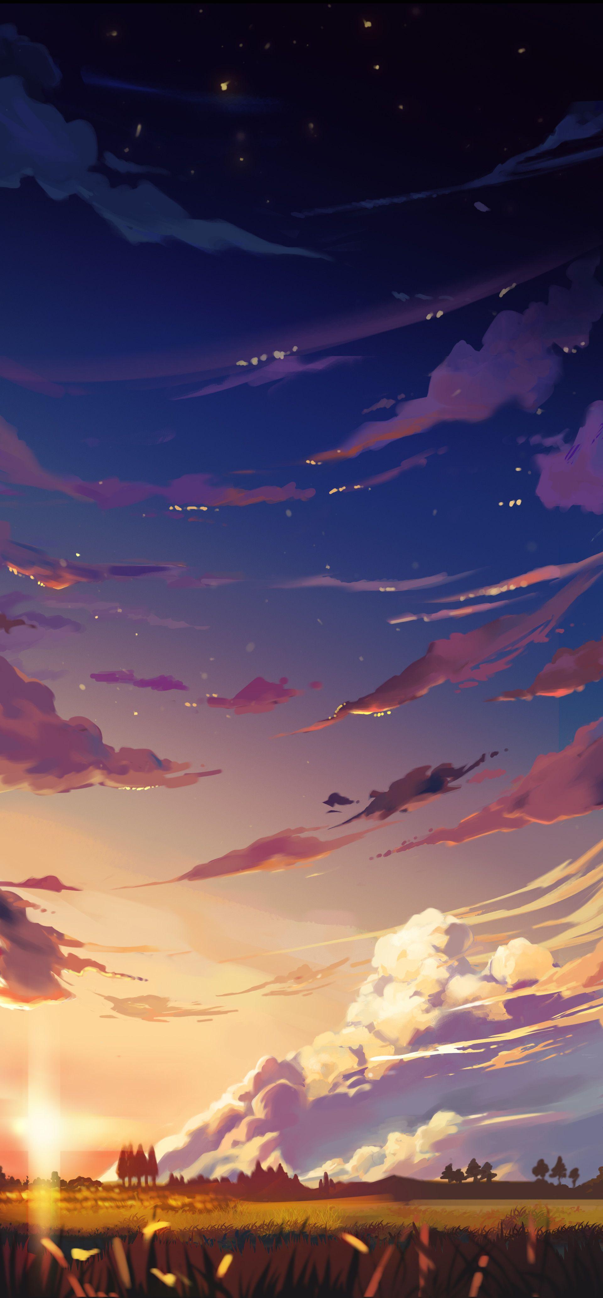 night fall, Wilson Stark Ilustração de paisagem