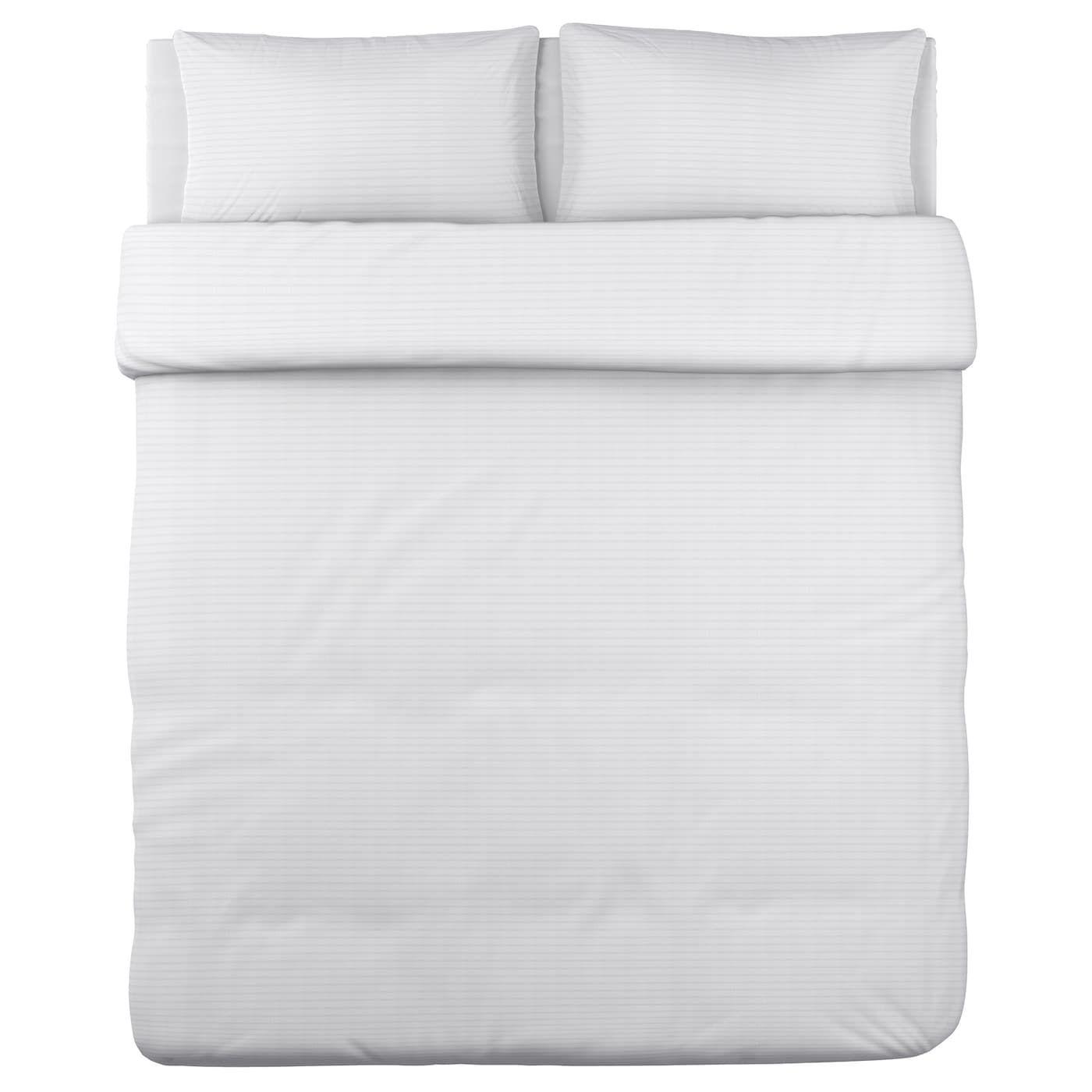 Ofelia Vass Duvet Cover And Pillowcase S White King Ikea Housse De Couette Ensemble Housse De Couette Literie Blanche