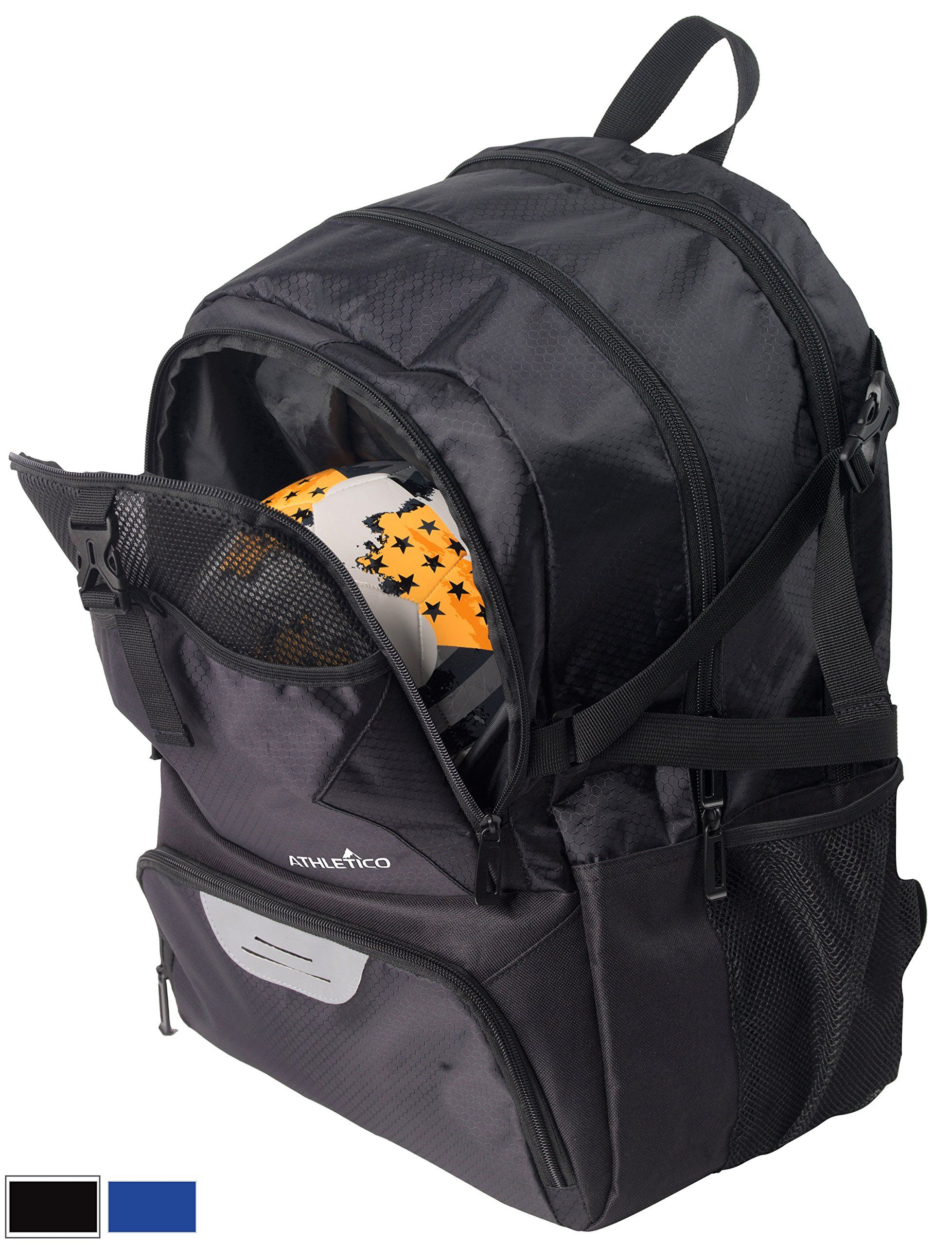 Athletico National Soccer Bag Backpack For Basketball Football Includes Separate Cleat And Ball Holder Youth Kids S Boys