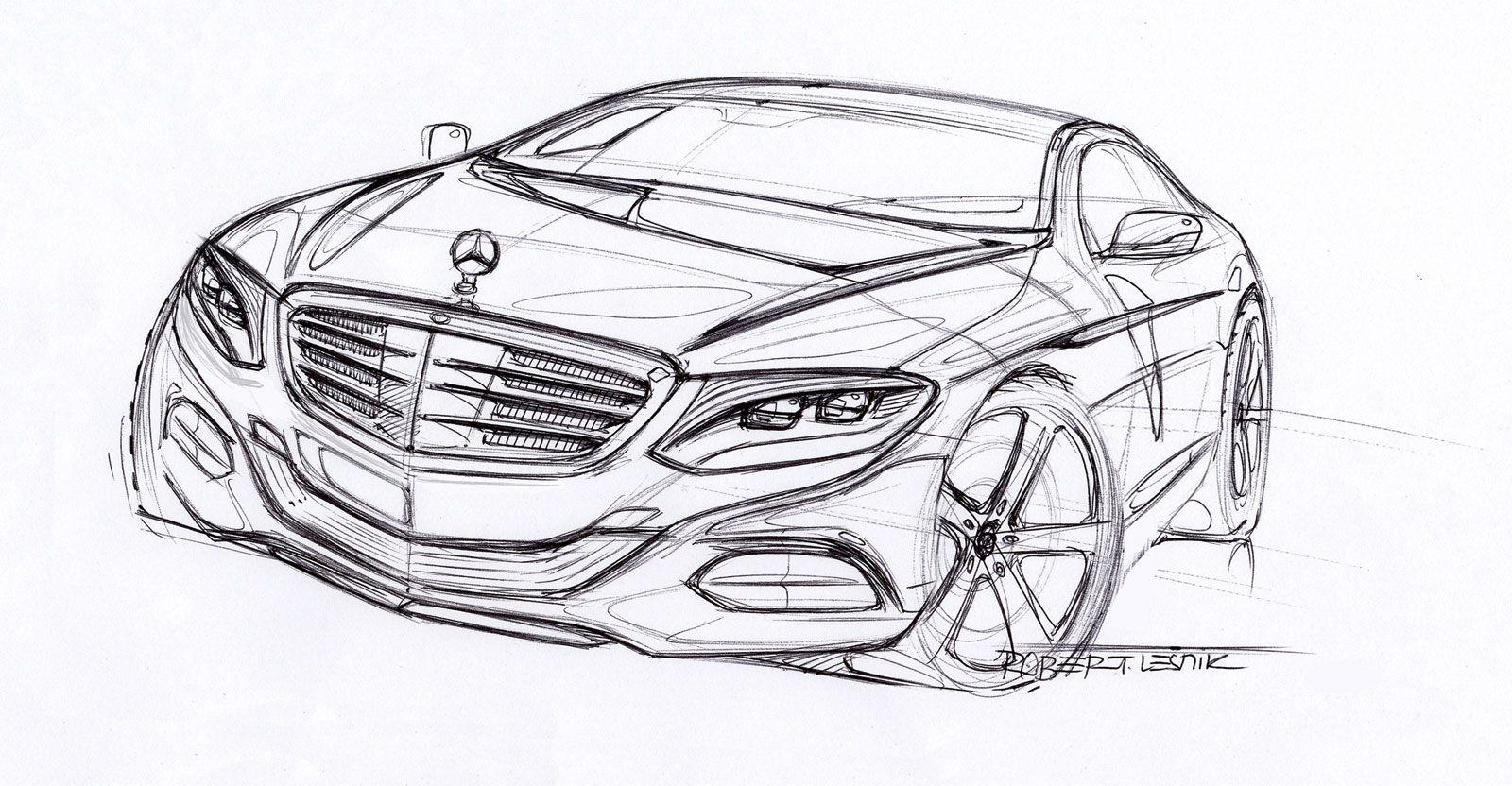 2014 Mercedes Benz S Class Design Sketch Auto Zeichnen Auto