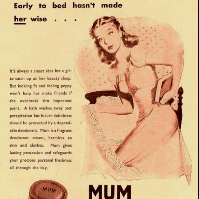 Vintage deodorant advertisement