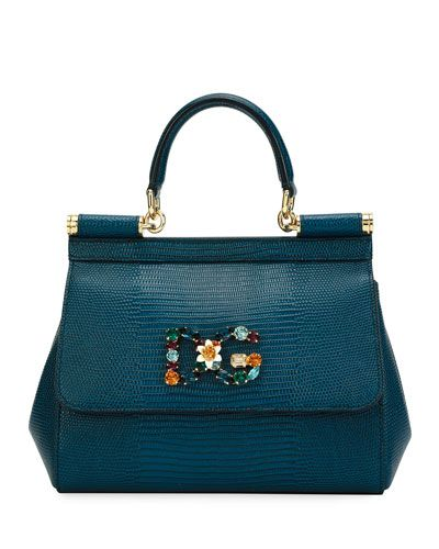e15ad38431 DOLCE & GABBANA SICILY SMALL STAMPA IGUANA TOP-HANDLE BAG. #dolcegabbana # bags #shoulder bags #hand bags #lining #leather #cotton #