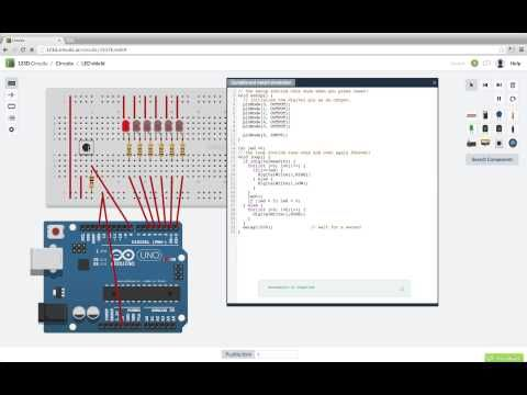 With 123D Circuits you can design in a familiar breadboard view and ...