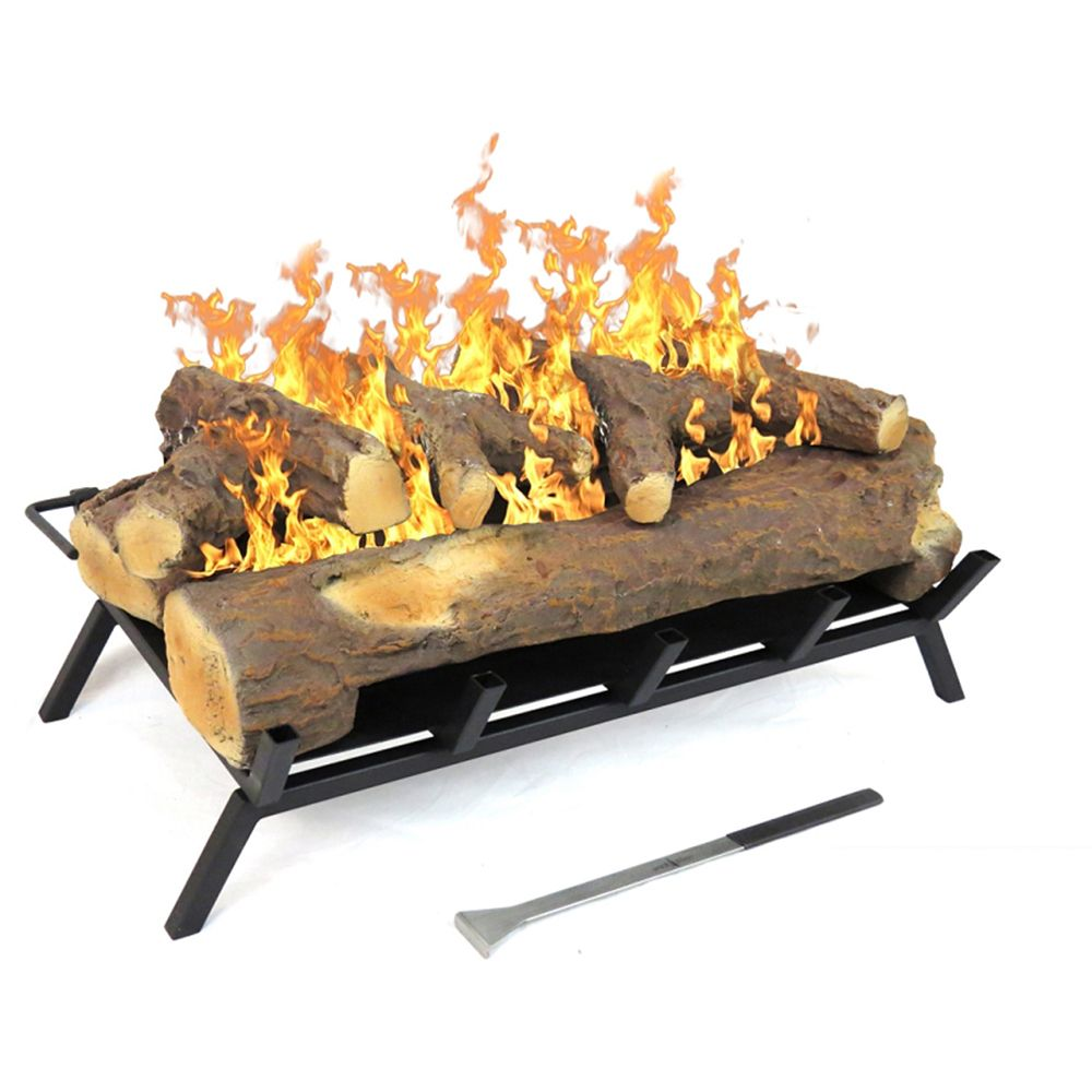 Ethanol fireplace and Gas logs