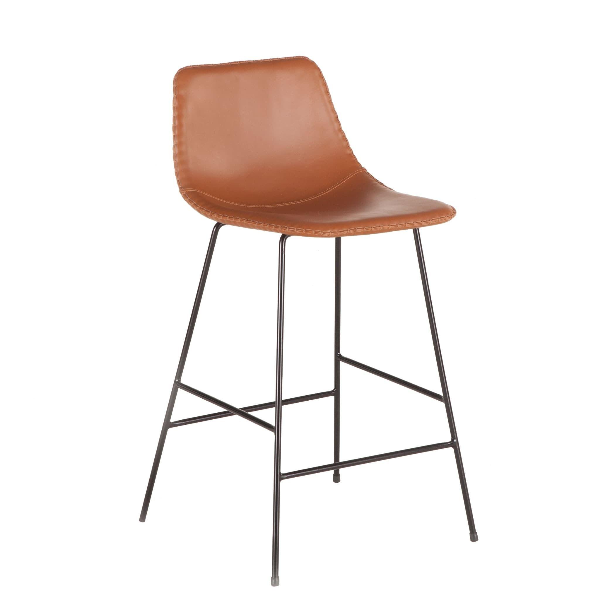 Marvelous Tan Faux Leather Counter Height Stool By World Interiors Inzonedesignstudio Interior Chair Design Inzonedesignstudiocom