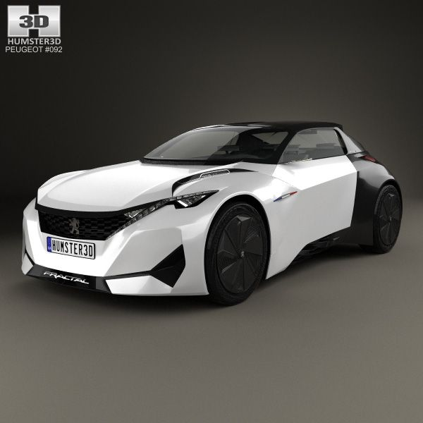 3D Model Of Peugeot Fractal 2015. PeugeotSport Cars