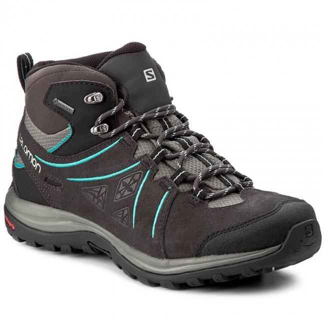 Trekkingi Salomon Ellipse 2 Mid Ltr Gtx W Gore Tex 394735 25 V0 Phantom Castor Gray Aruba Blue Trekkingi I Trapery Kozaki I Inne Boots Hiking Boots Shoes