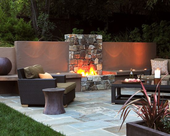 Great Fire Place Would Like Great As A Half Privacy Wall Between The Neighbours Too Garden