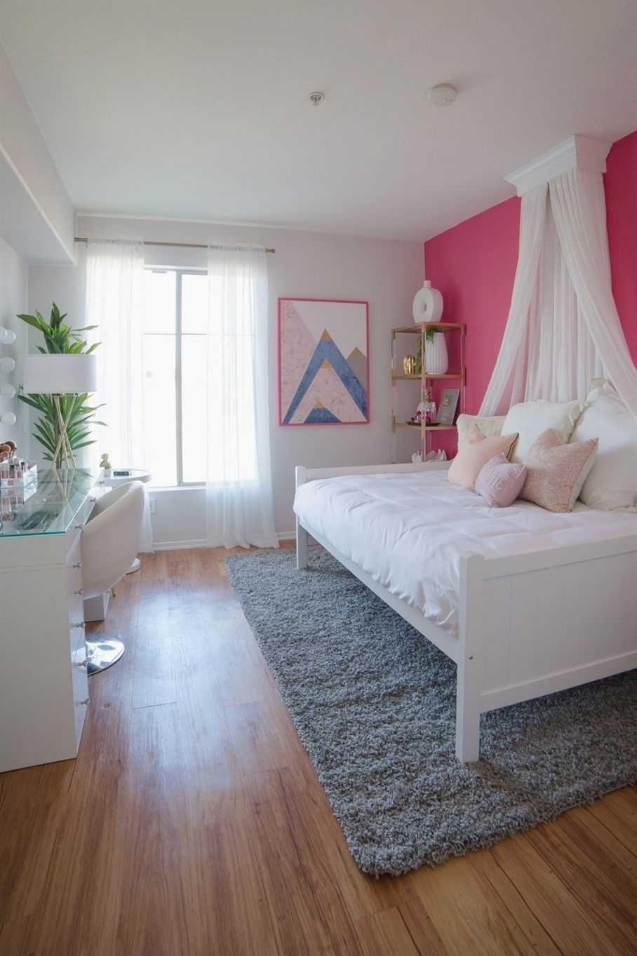 Best Pautips' Glam Pink Bedroom Makeover Small Room Design 640 x 480