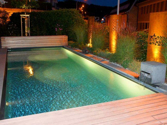 Living Pool, Swimmingpool, Schwimmteich Gartenbau, Gartenumbau - reihenhausgarten und pool