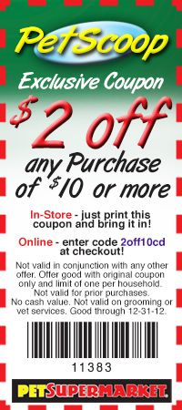 photograph regarding Pet Supermarket Printable Coupon called Canine-Grocery store: $2 off $10 Printable Coupon Canine A Palooza