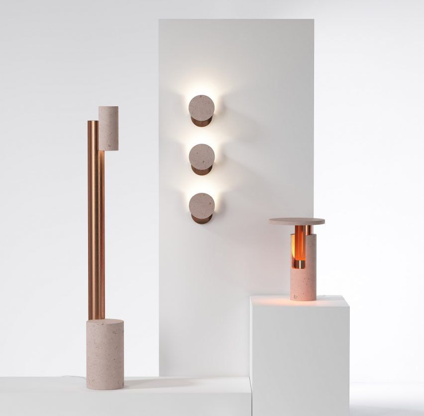 Davidpompa pairs pink volcanic rock and copper for ambra lamp range davidpompa pairs pink volcanic rock and copper for ambra lamp range mozeypictures Gallery