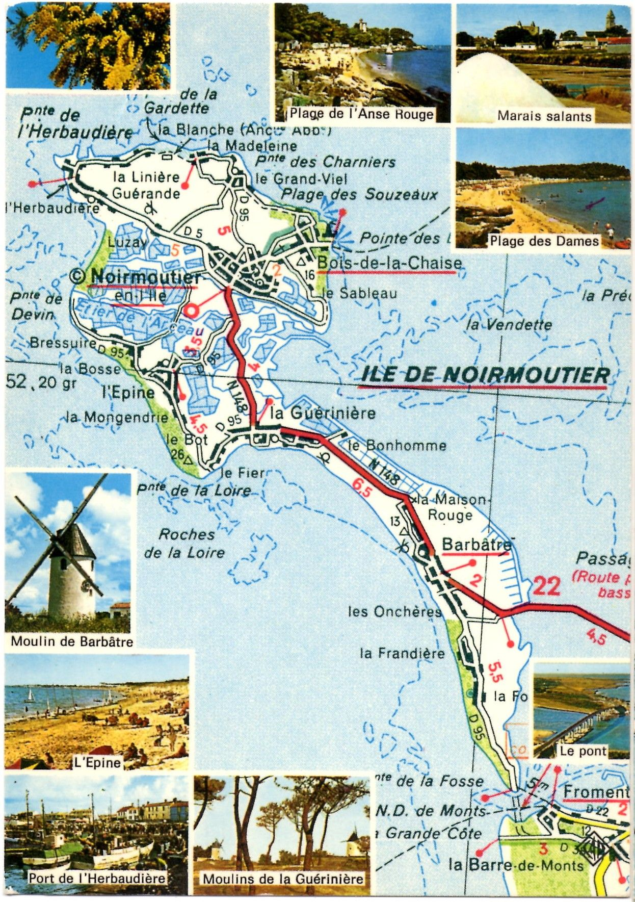 Noirmoutier France Noirmoutier Carte Noirmoutier Iles Chausey