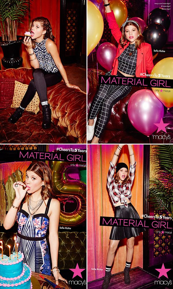 Sofia Richie S The New Face Of Madonna S Material Girl Line Shop