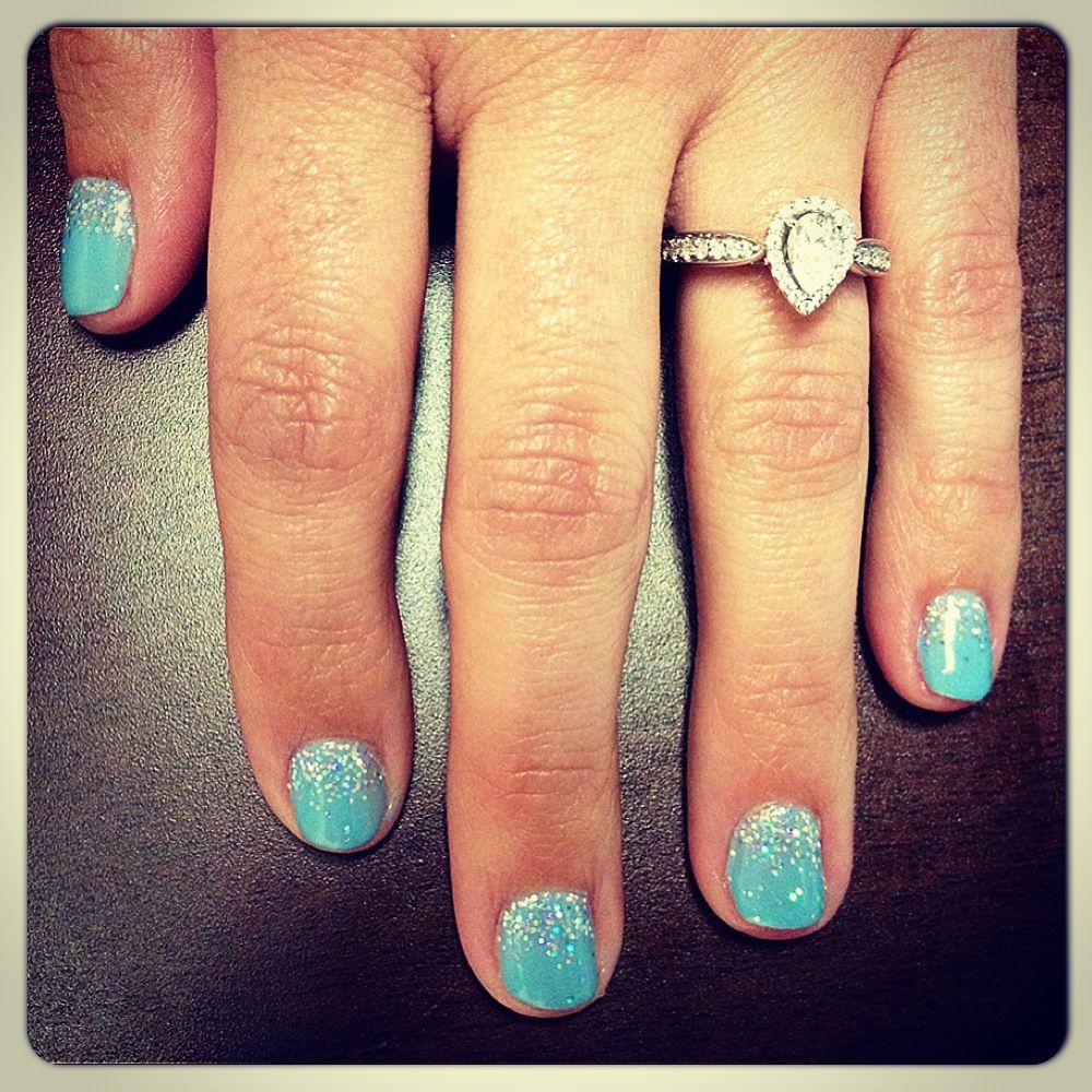 Tiffany Blue Gel Nail Polish: Tiffany Blue CND Shellac + Additives