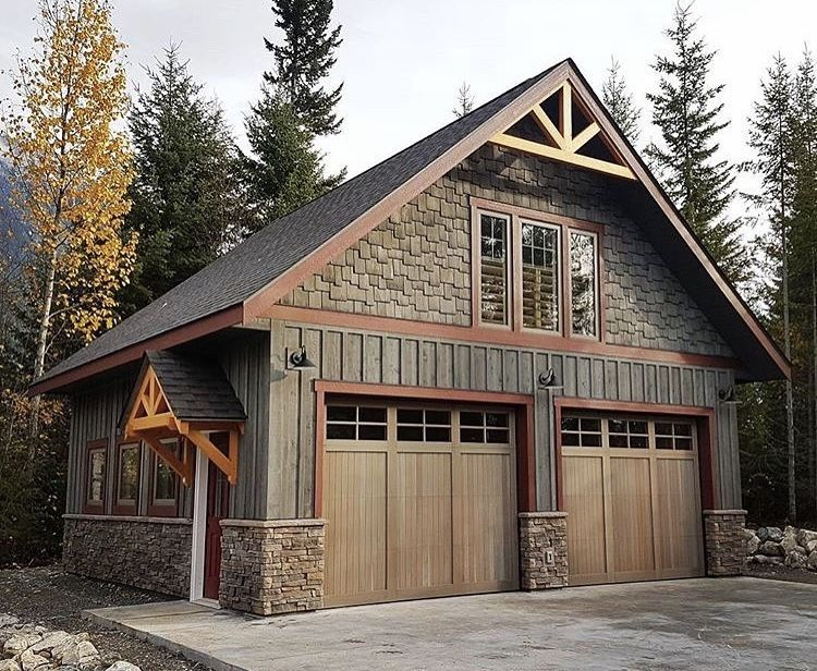 Garage Exterior Style Idea Rustic Houses Exterior Garage Exterior House Exterior