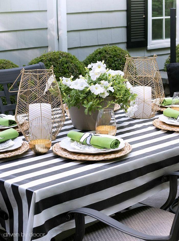 IKEAu0027s SOFIA Acrylic Coated Fabric Used As An Outdoor Tablecloth