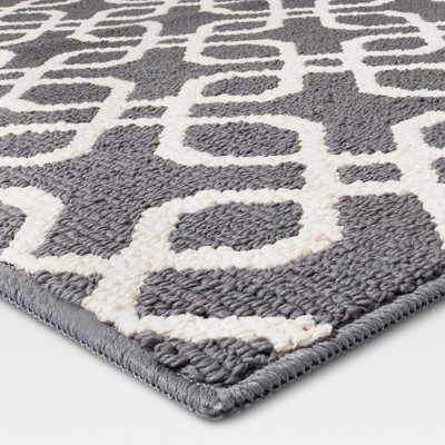 1 8 X2 10 Trellis Accent Rug Gray Threshold Adult Unisex In 2020 Scatter Rugs Accent Rugs Washable Rugs