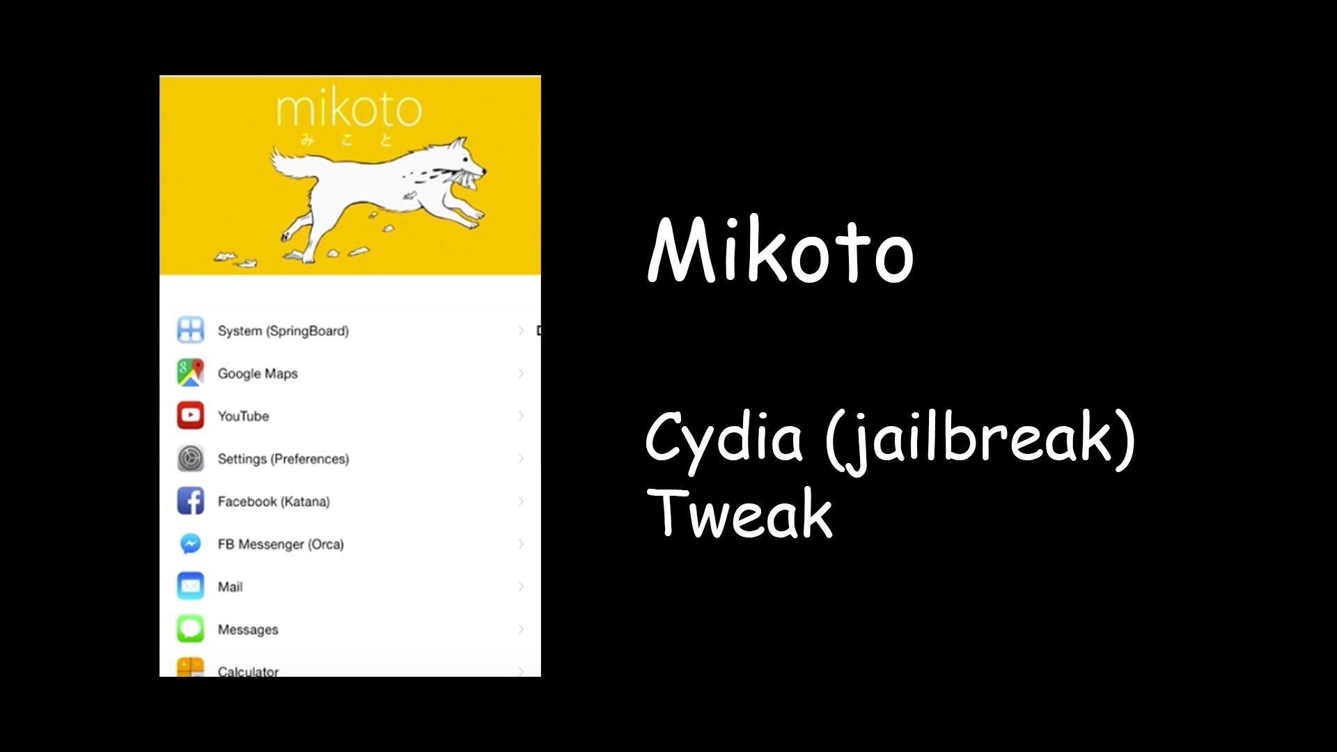 Mikoto Customize App Store apps including iOS itself
