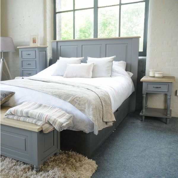 The Orchard Lille Grey Painted Headboard 365 Liked On Polyvore Featuring Home Furniture Beds Painted Bedroom Furniture Grey Painted Bed Grey Headboard