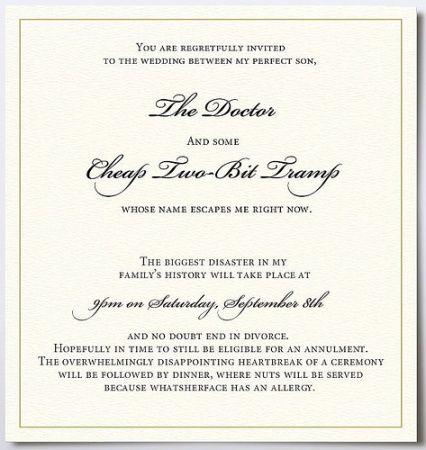 Mother Of The Groom Invitation Funny Wedding Invitations