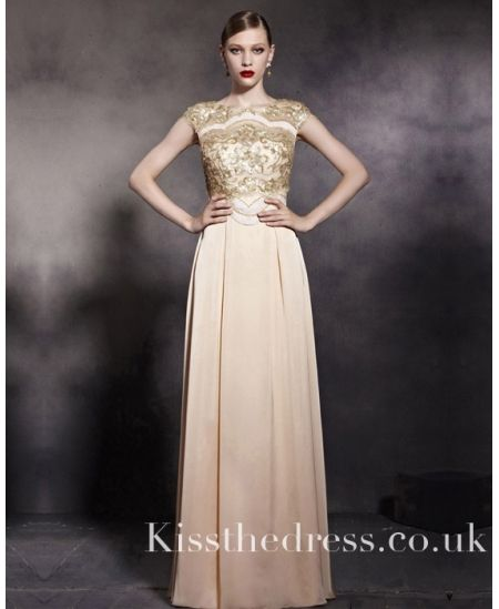 213d3dd6a5 Chinese Style Vintage Gold Sequins Long Prom Dress CYH81953 ...