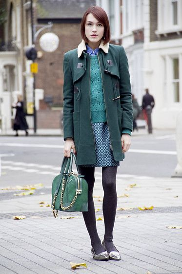 Whistles Duffel Coat, Whistles Jumper, J.Crew Skirt, Alice   ...