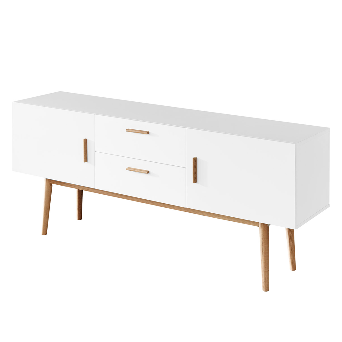 sideboard wei eiche massivholz 160cm kommode anrichte. Black Bedroom Furniture Sets. Home Design Ideas