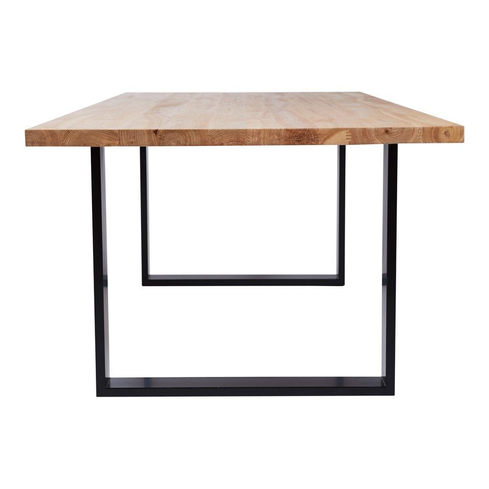 Pyrmont Oak Wooden Dining Table Blacklegs Side Dining Table